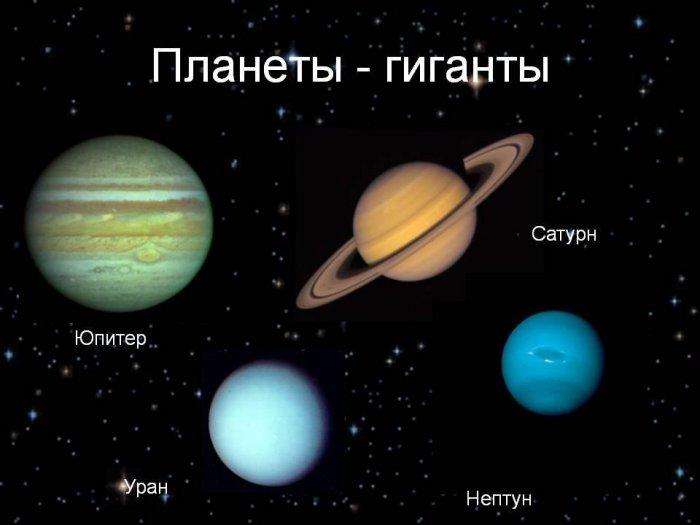 Интересные факты о планетах-гигантах