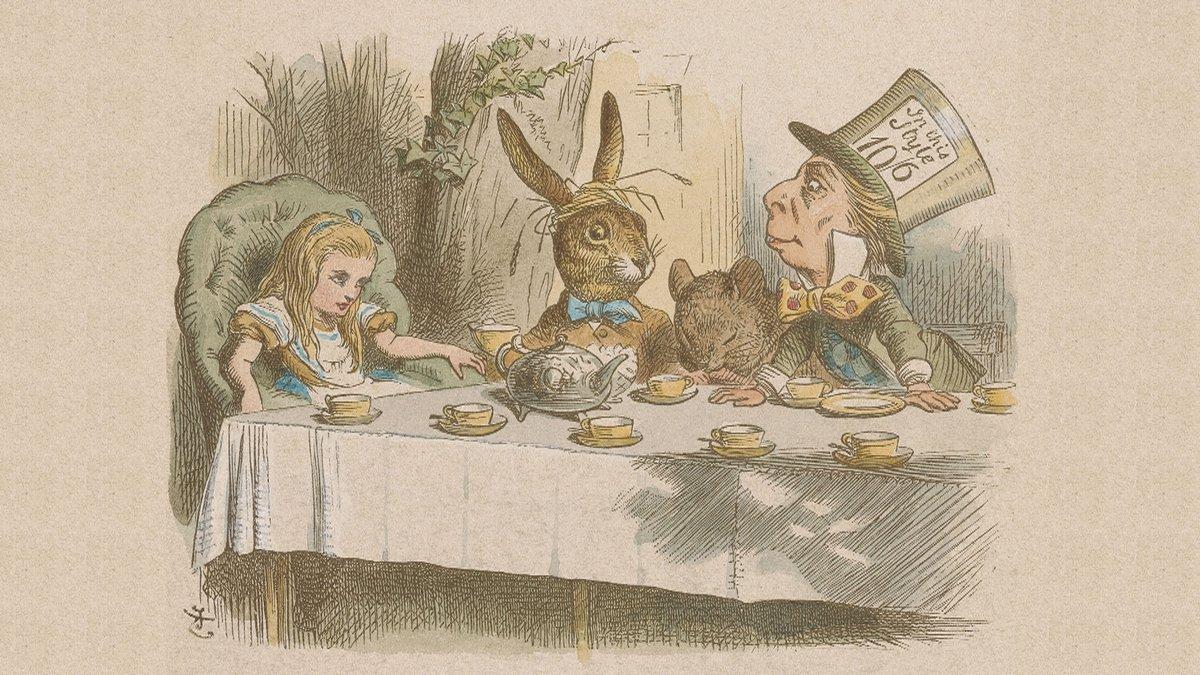 Алиса в стране чудес чаепитие у Шляпника