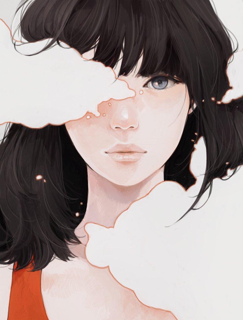 Арты девушек с короткими волосами