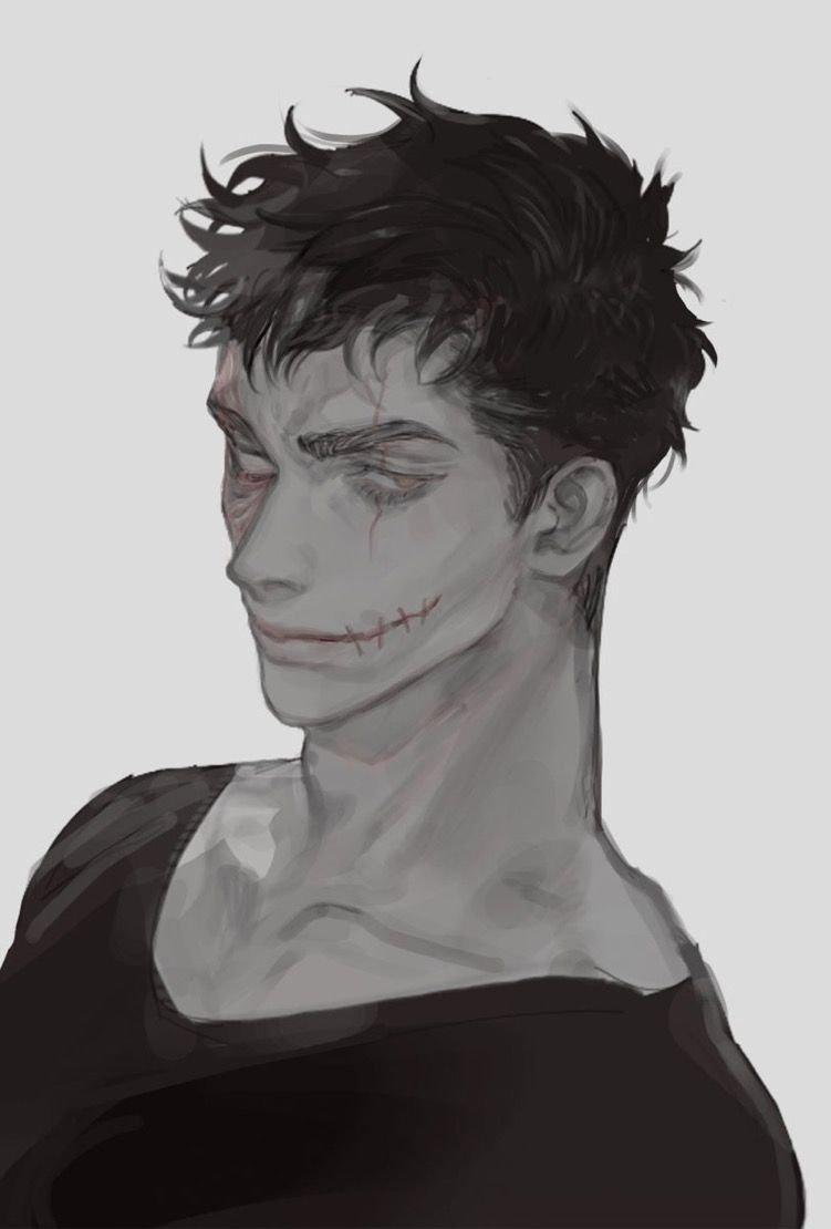 Аниме парень со шрамом на лице