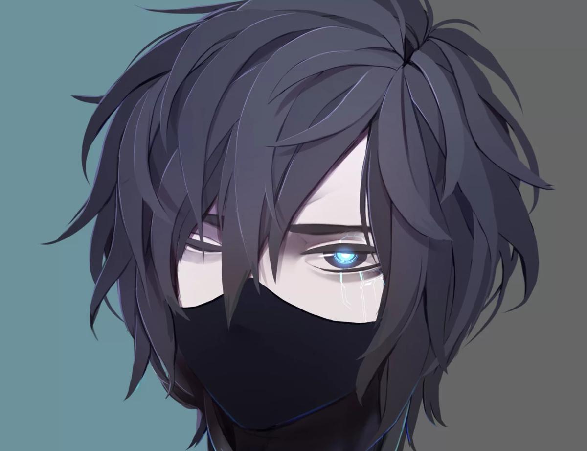Аниме персонажи с закрытыми глазами