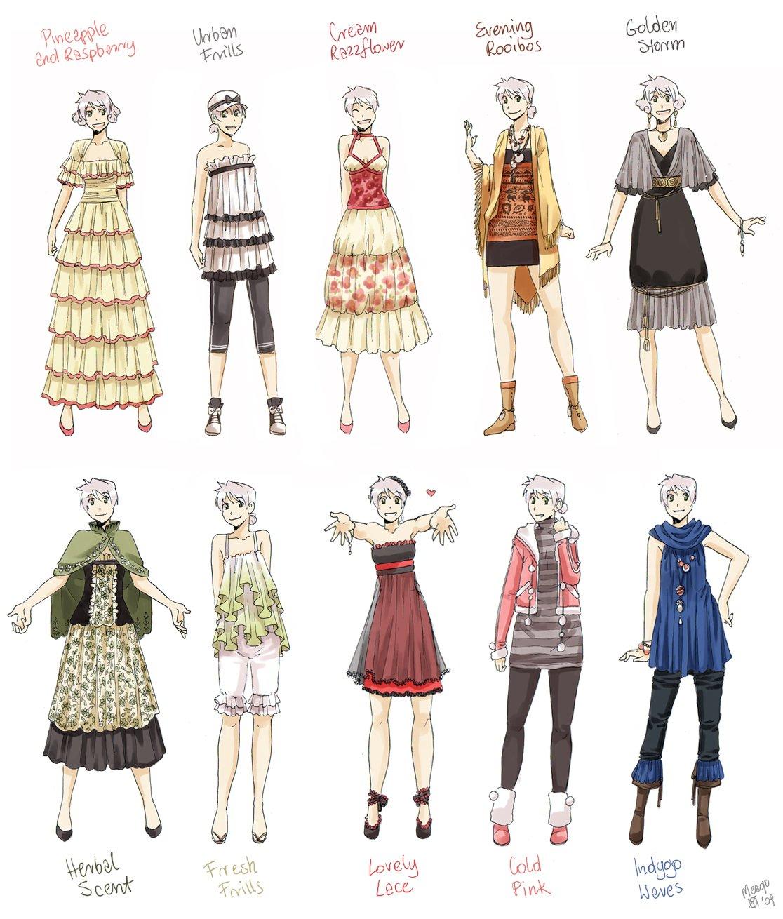 Аниме современная одежда