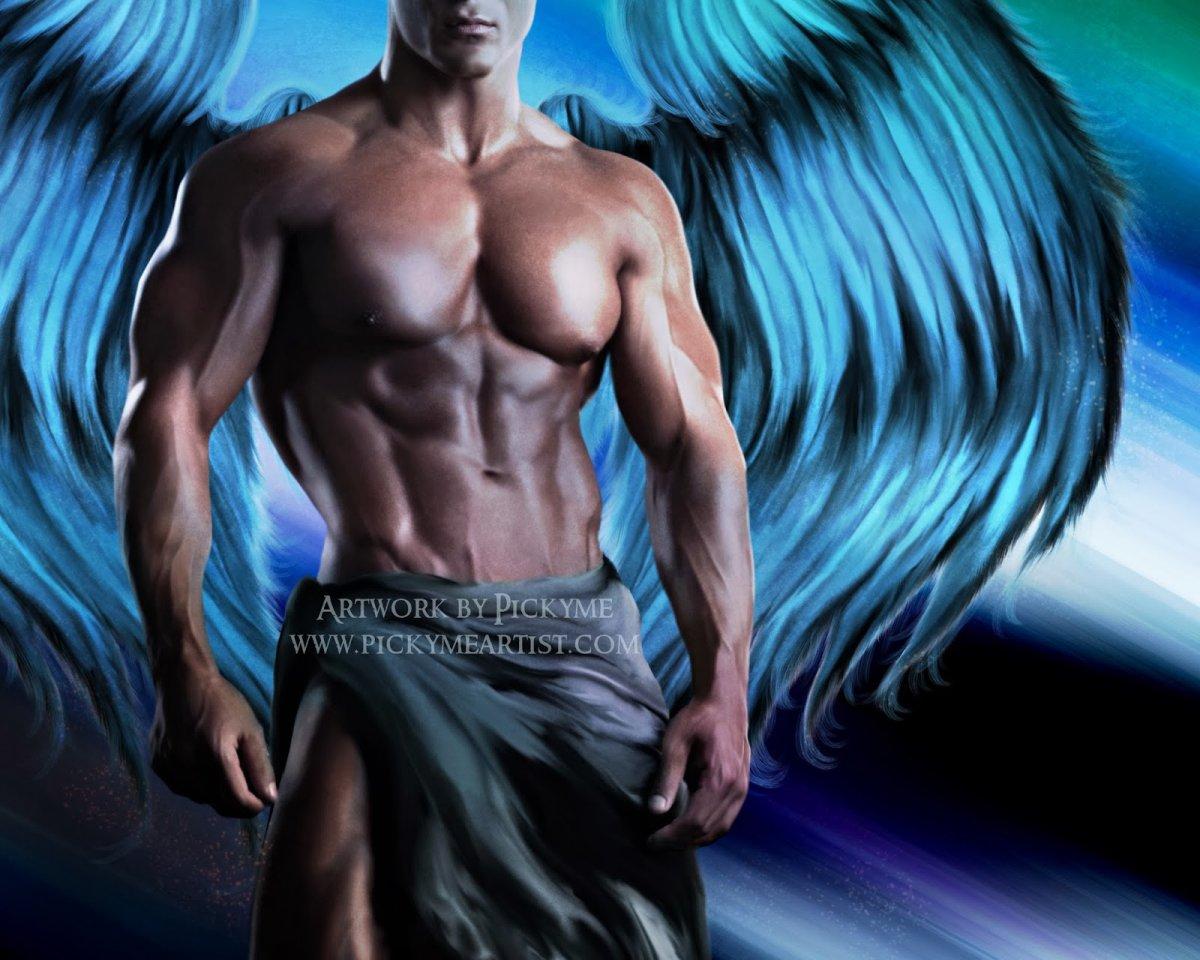 Ангел с крыльями мужчина