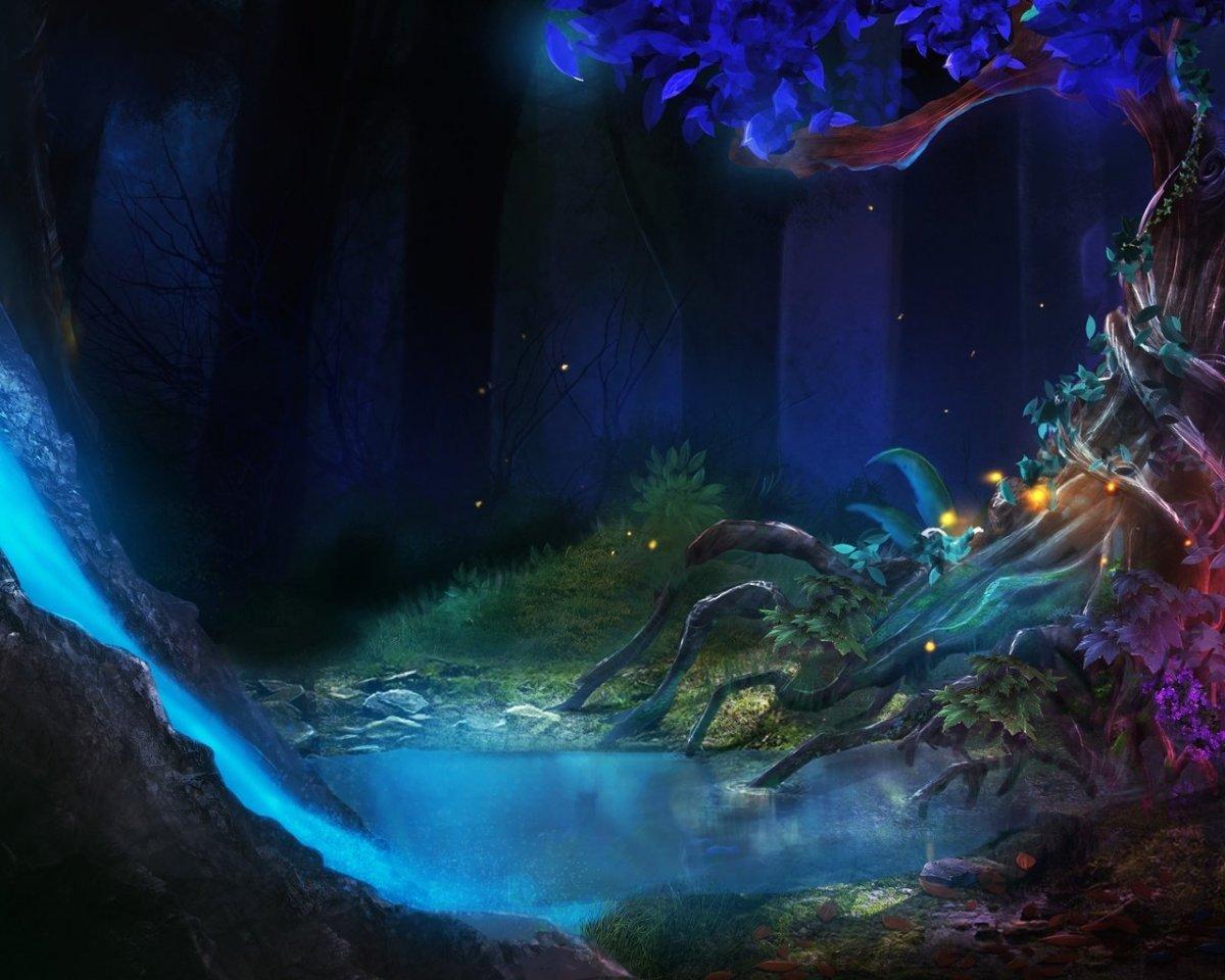 Фэнтези лес