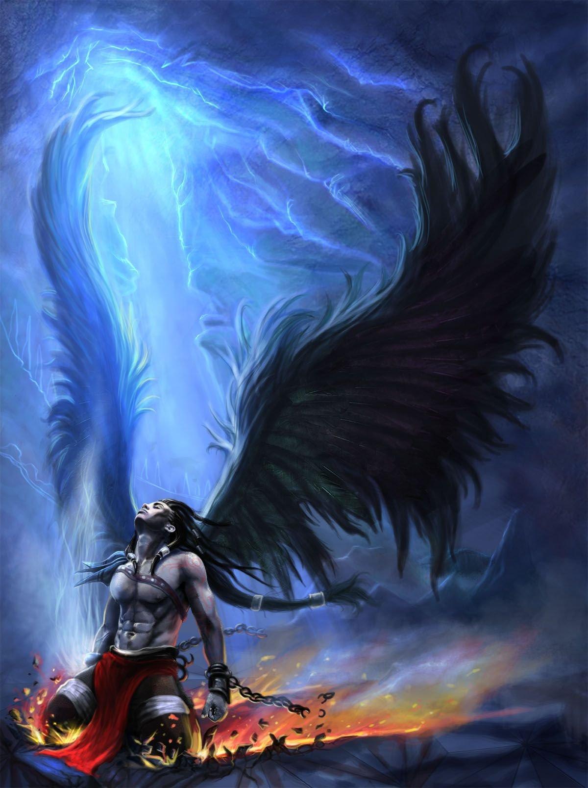 Падший ангел арт