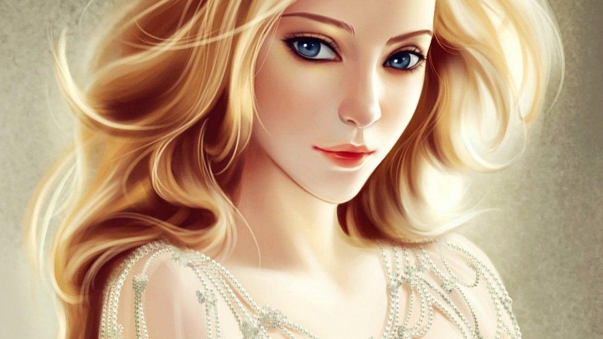 Красивая девушка мультяшная