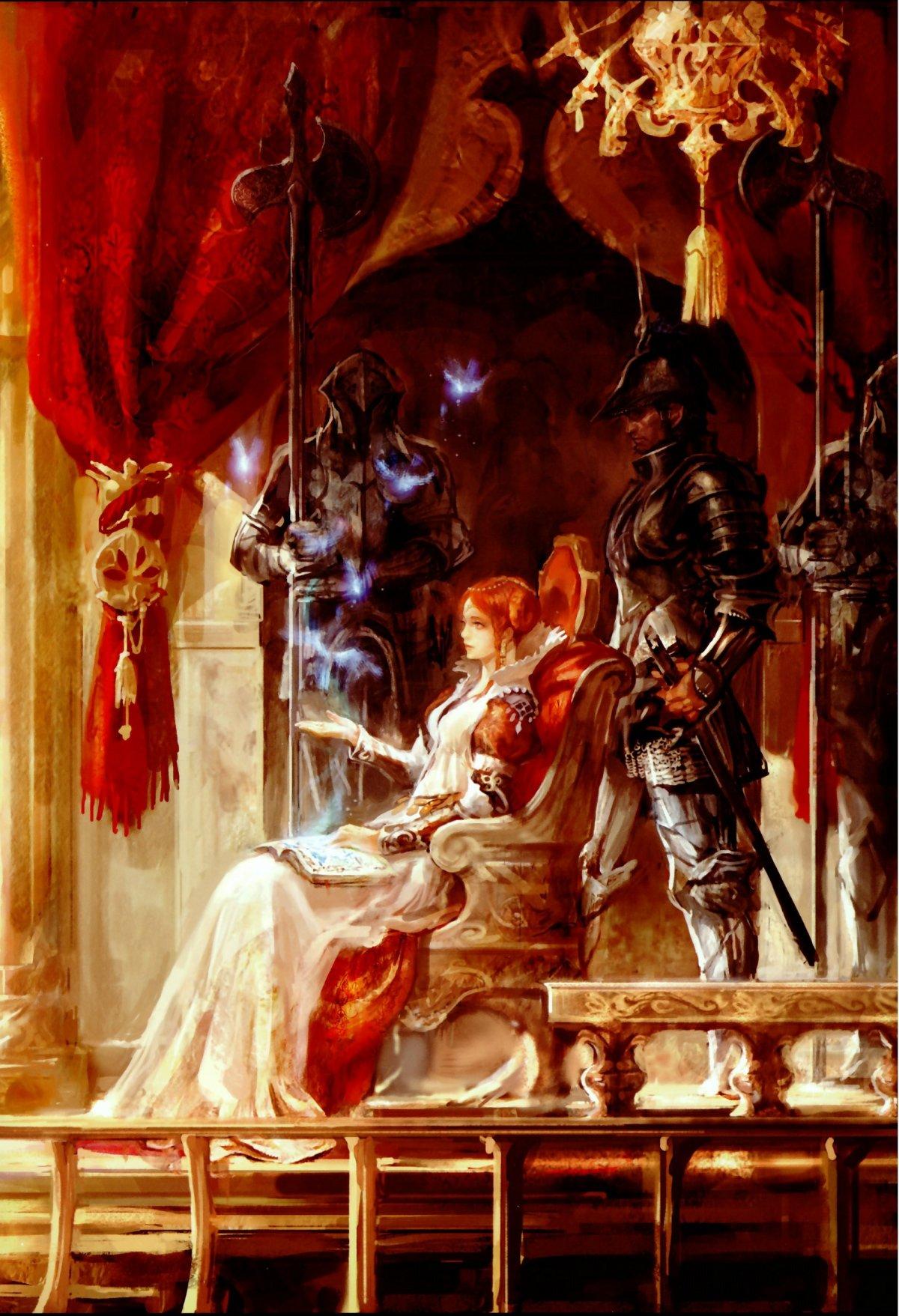 Сидит на троне