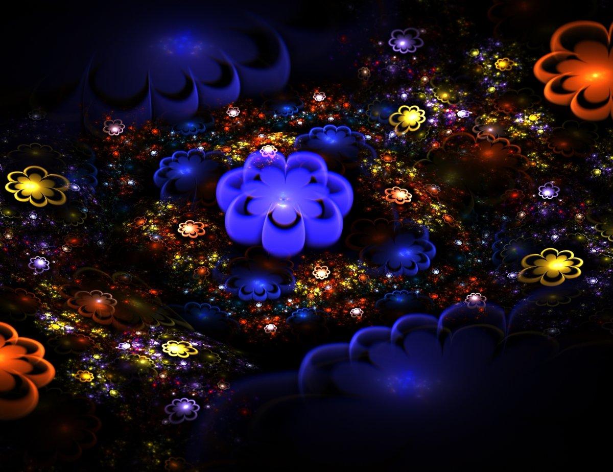 Неоновые цветы
