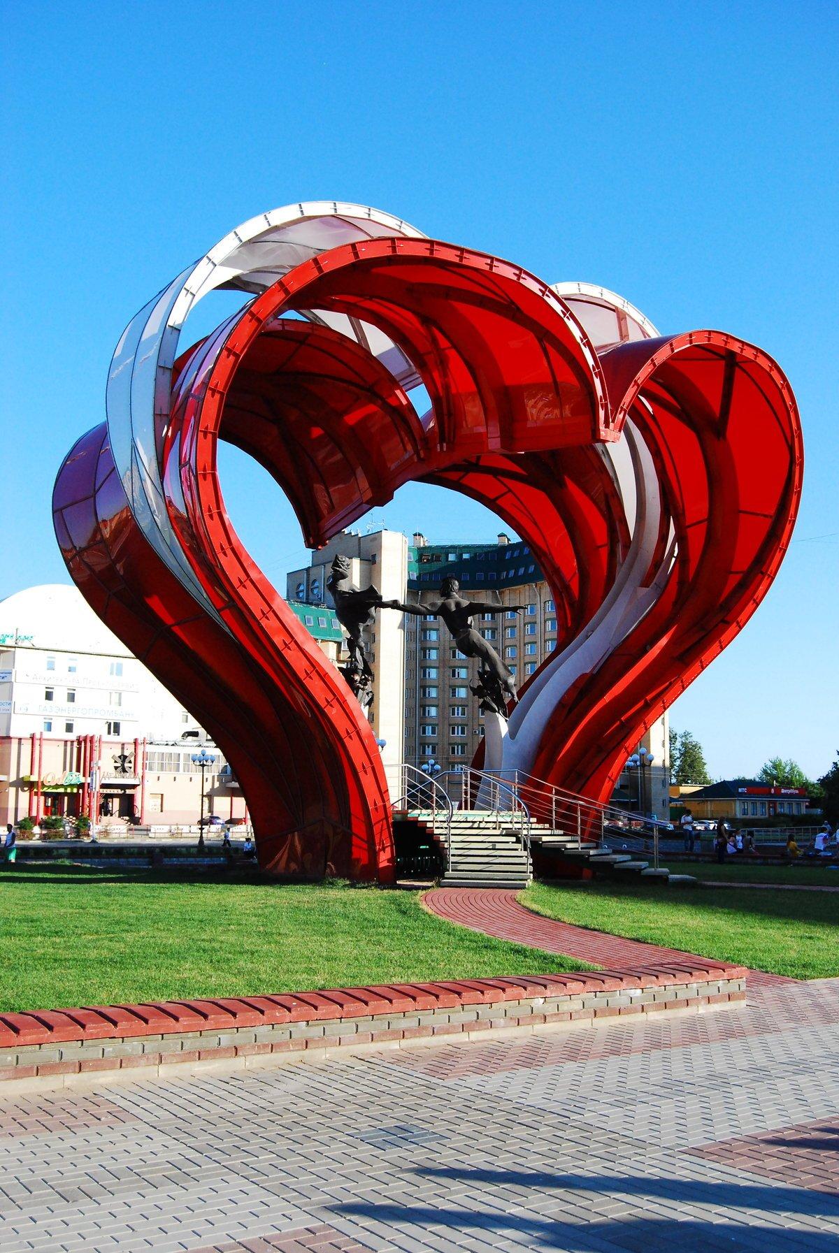 Арт объект сердце в Уфе
