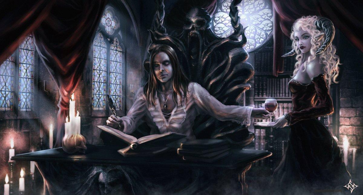 Семья вампиров арт