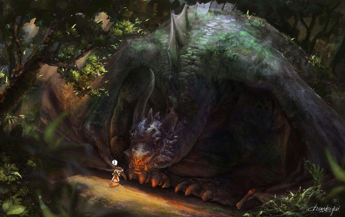 Спящий дракон арт