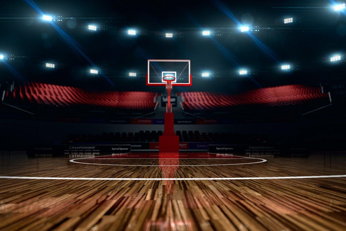 Баскетбольное поле текстура