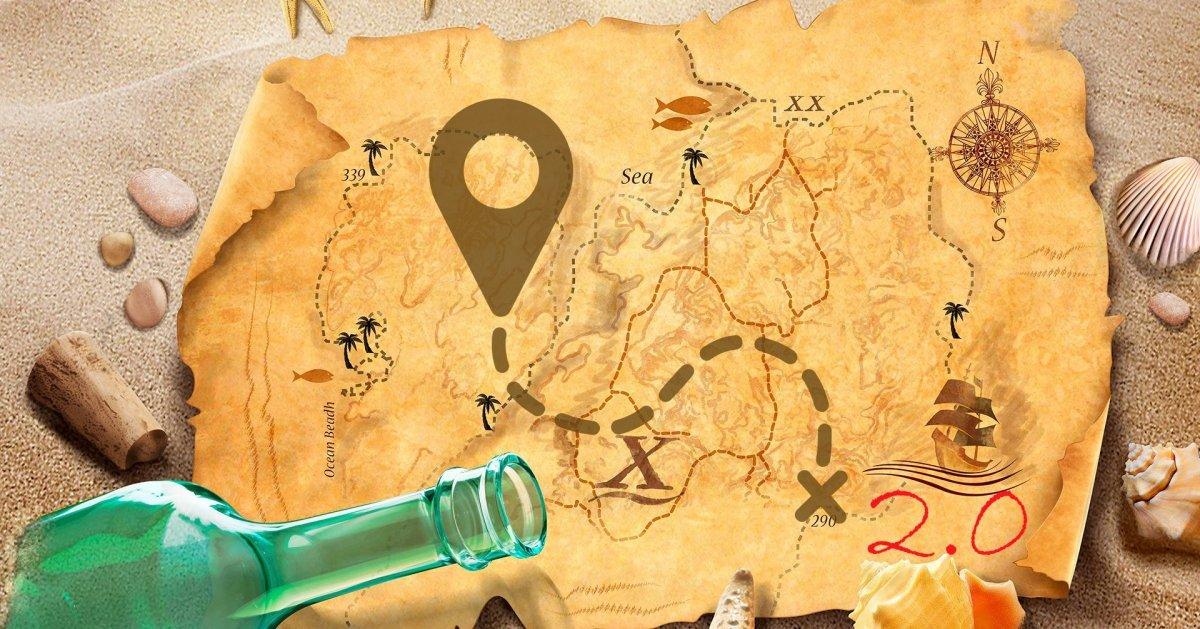 Карта пиратов фон