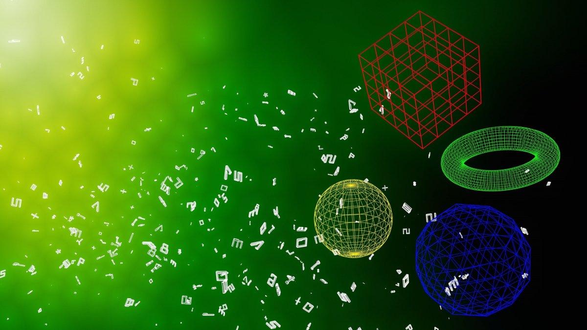 Математический зеленый фон