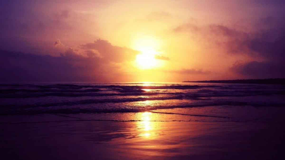 Закат солнца фон
