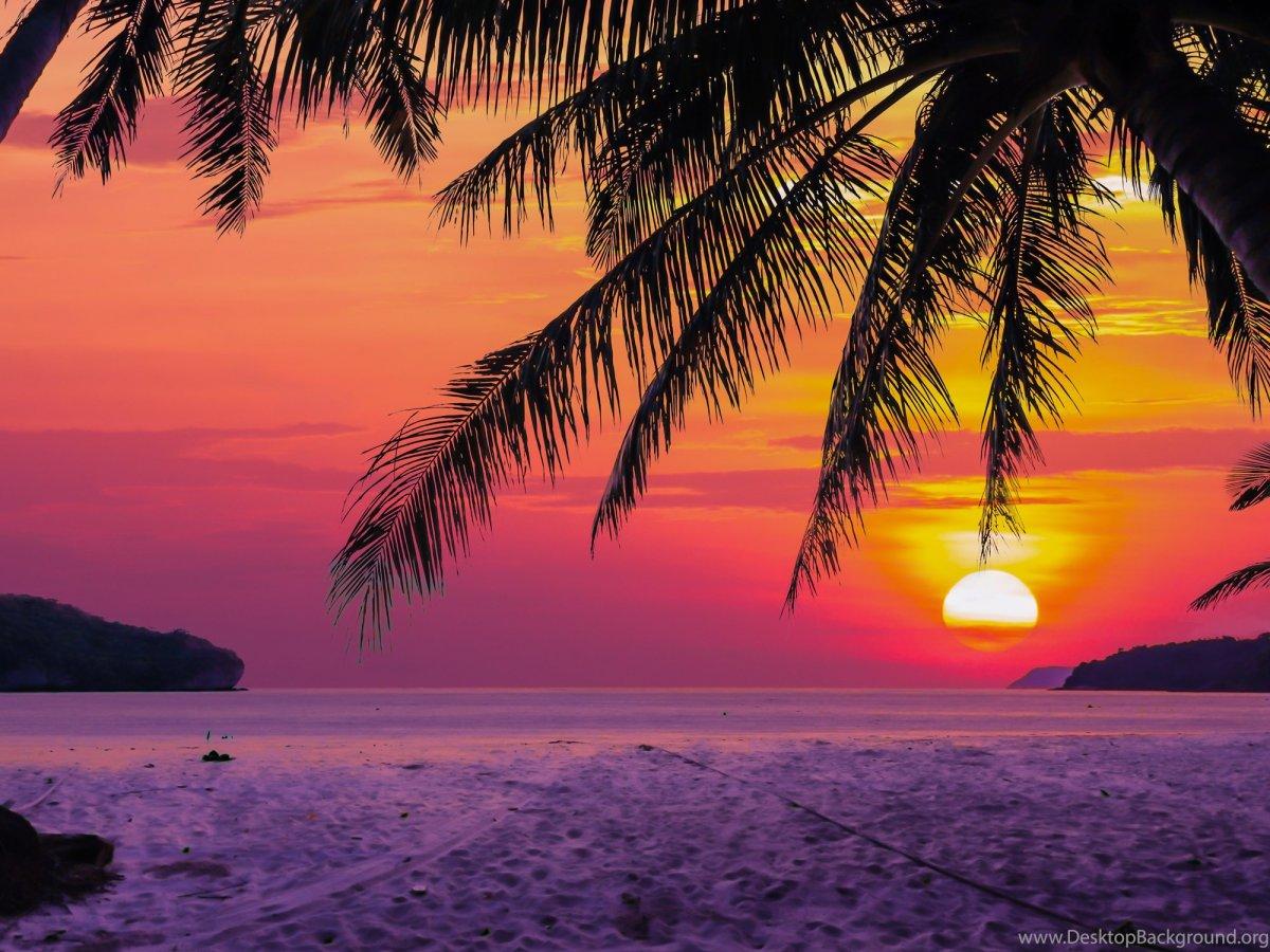 Фон пляж закат