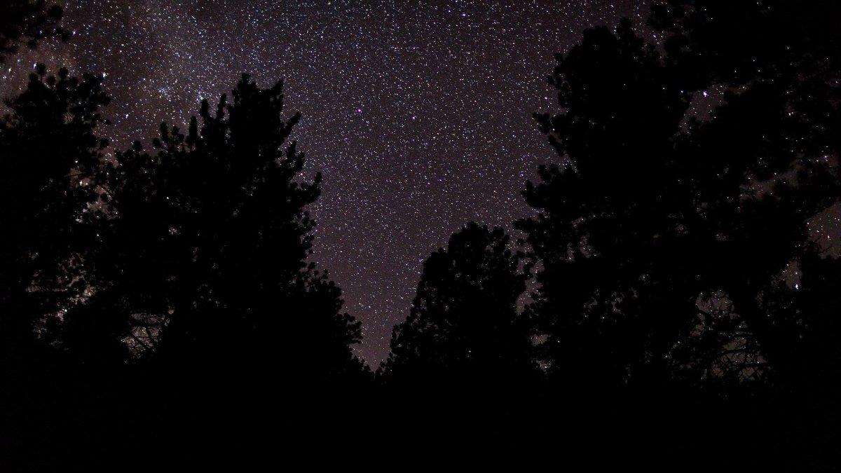 Черное небо звезды фон