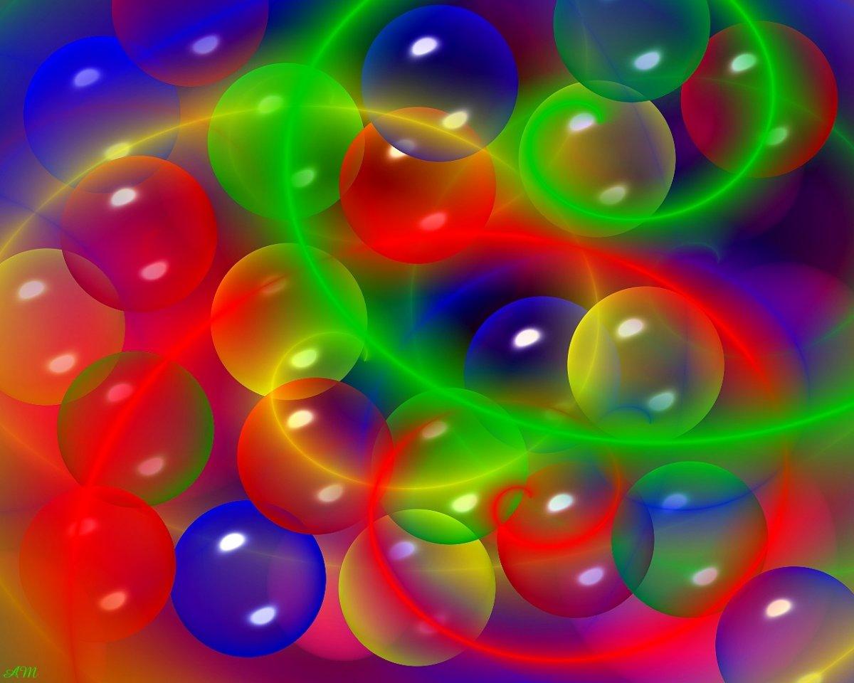Фон разноцветные пузыри