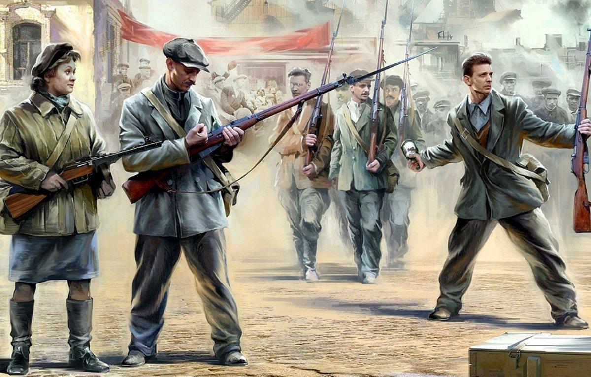 Солдат красной армии арт