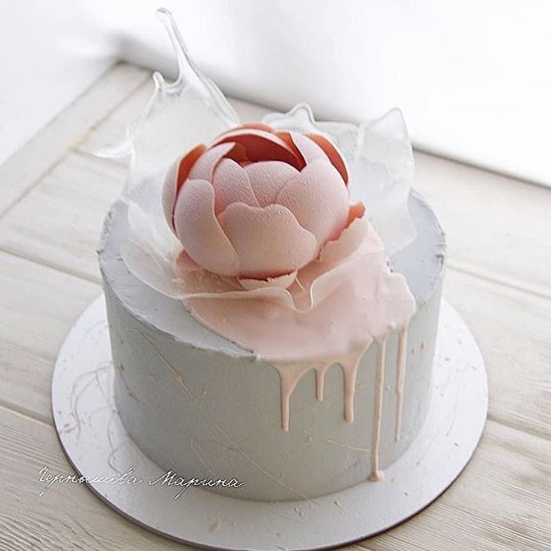 Необычные одноярусные торты