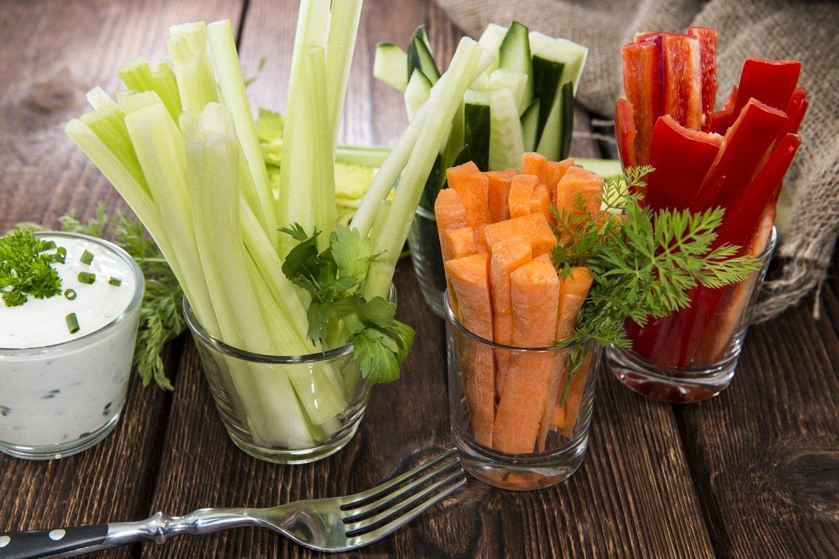Овощи нарезанные соломкой