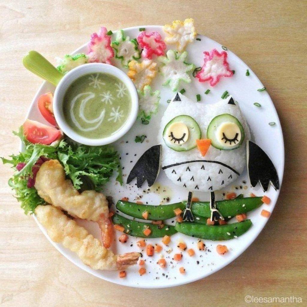 Детские блюда украшение