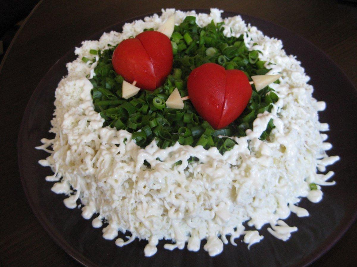 Украшение салатов на свадьбу