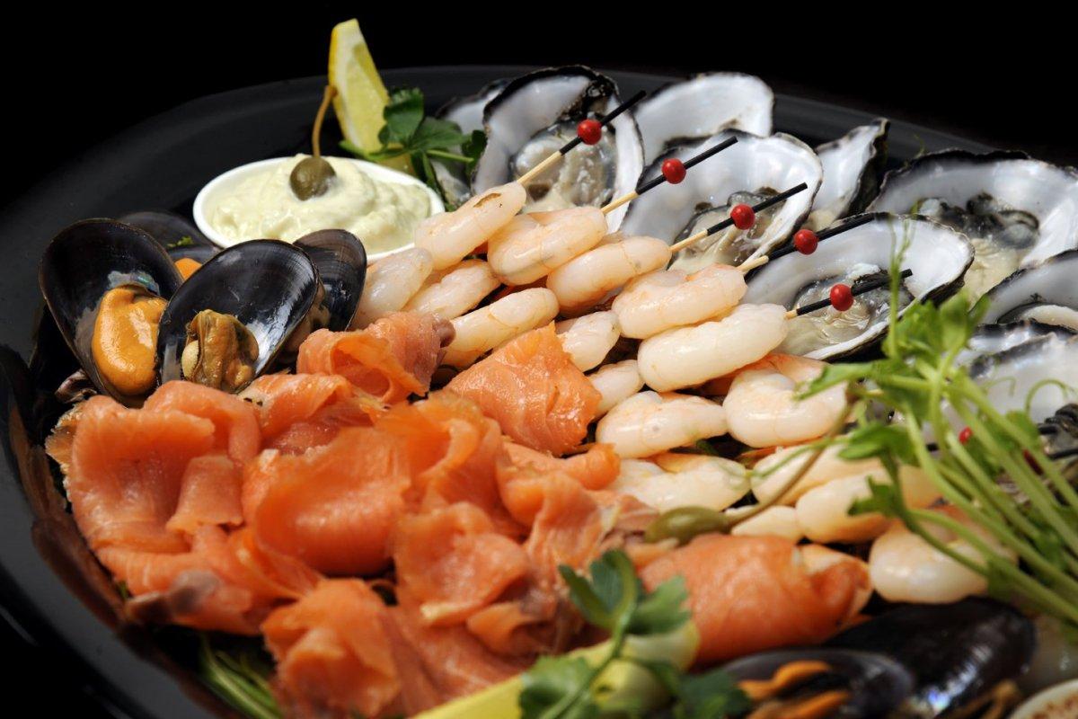 Подача морепродуктов