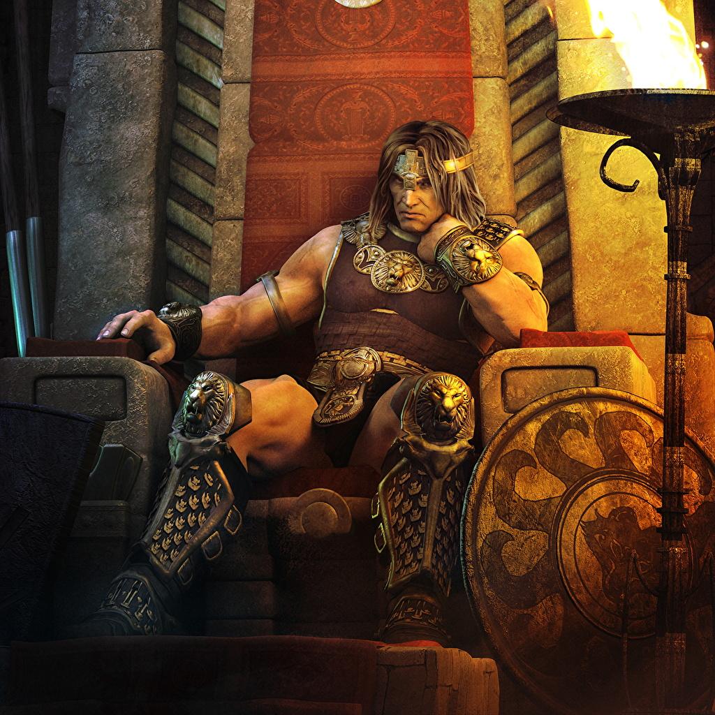 Король на троне арт