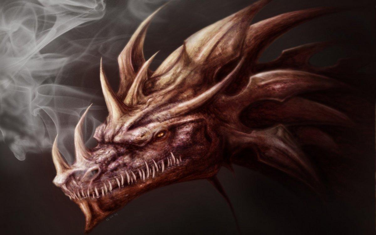 Страшный дракон арт
